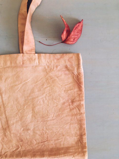 naturally dyed pink organic cotton tote bag