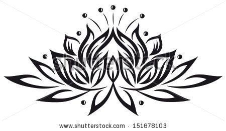 Filigree lotus flower, black vector by Christine Krahl, via Shutterstock
