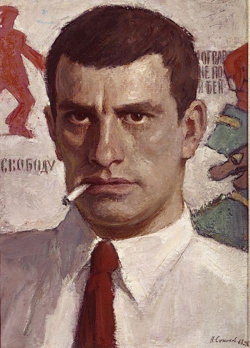 Nikolai Sokolov- Portrait of Vladimir Mayakovsky