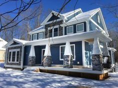 Craftsman House Plan with L-Shaped Porch - 46301LA | Architectural Designs - House Plans