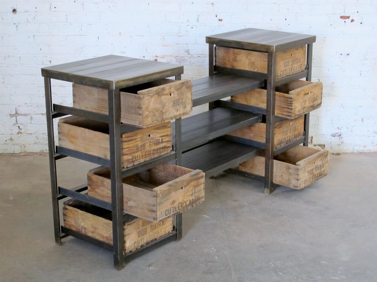 angle iron display crates Displays Pinterest