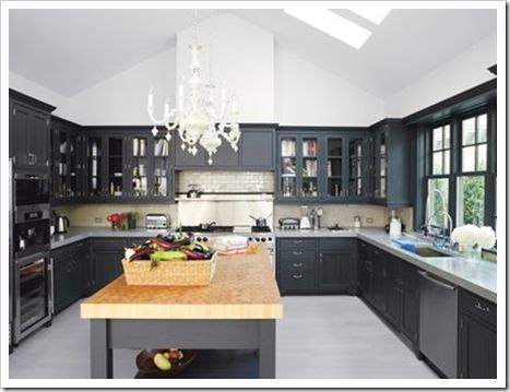 203 best images about kitchen on pinterest grey cabinets topps - Charcoal Grey Kitchen Cabinets