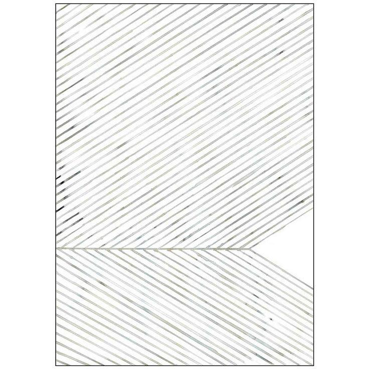 Silke Bonde plakat 50x70 leaf lines green
