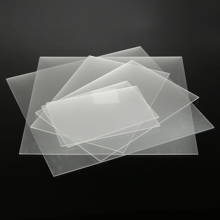 3mm One-Sized Frosted Acrylic Sheet Clear Satin Matte Finish Plastic Panel 6 Sizes