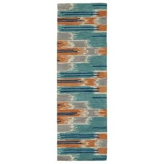 Shop for Hand-Tufted de Leon Ikat Multi Rug (2'6 x 8'). Get free shipping at Overstock.com - Your Online Home Decor Outlet Store! Get 5% in rewards with Club O! - 16946344