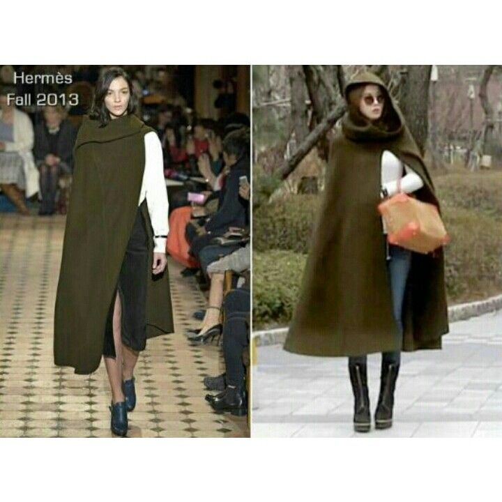 Hermes Fall 2013 From the catwalk stage to the street. Jun Ji-hyun - 전지현 - 全智賢 - South Korean actress