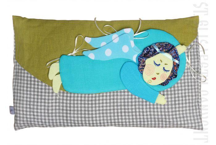Sleeping Angel pillow for children, #CatalogOfGoodDeeds #CatalogOfStElisabethConvent #handmade #eco #toys #kids #souvenir #present #goodparents #bedwarmers #bedwarmers #interiordecorations