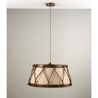 $702 Lustrarte Lighting Rustik Tambor Four Light Pendant