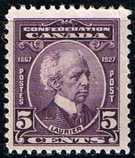 Canada 1927 SG 269 Confederation Sir W Laurier Fine Mint SG 269 Scott 144 Other Canadian Stamps for Sale HERE