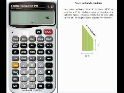 Cálculo de la Longitud de Vigas en Construcción de Techos con la Calculadora Construction Master Pro