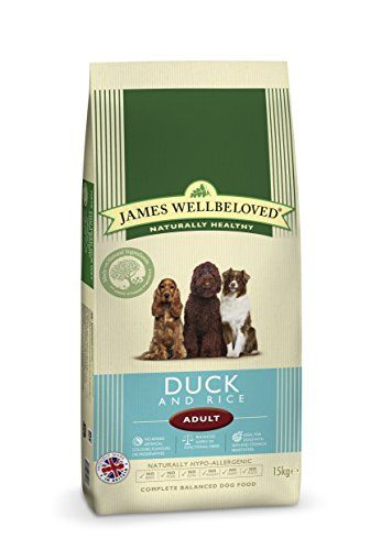 Aus der Kategorie Trockenfutter  gibt es, zum Preis von EUR 84,93  Die besonders ausgewählten, gesunden Zutaten von James Wellbeloved Hundefutter machen dieses natürlich gesund, vollkommen sättigend und sehr schmackhaft für Ihren Hund.<BR/><BR/>James Wellbeloved Hundefutter enthält kein Rind- oder Schweinefleisch, kein Weizen oder Weizengluten, keine Milchprodukte und kein Ei und sind hypoallergen und frei von vielen der Zutaten, die dafür bekannt sind, Futtermittelintoleranzen auszulösen…