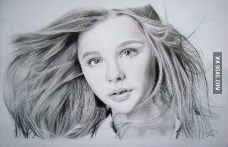 My drawing of Chloe Moretz