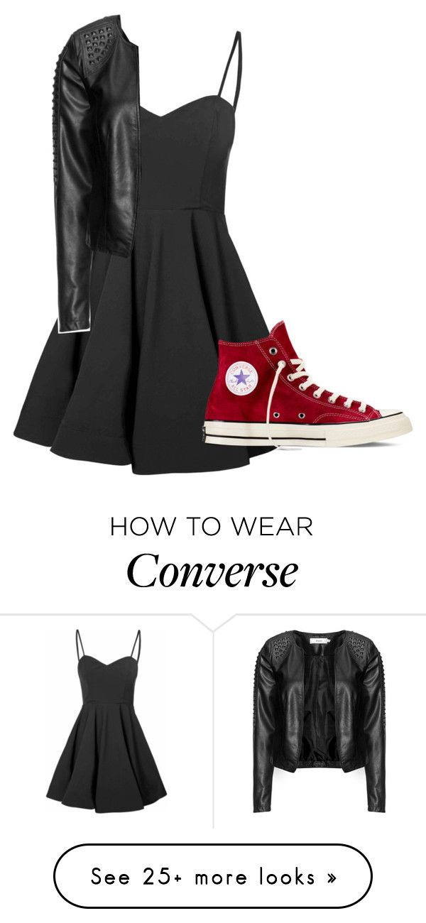 """Ok, I'm ready.."" by clea69 on Polyvore featuring Glamorous, Zizzi and Converse"