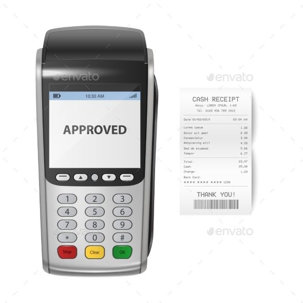 Vector Realistic Silver Payment Machine Pos Pos Vector Design Template