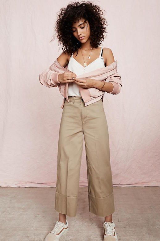 This year's favorite silhouette is oversized and extremely wearable, so how do you incorporate the beloved trend into an everyday look? With a wide-leg cropped pant.