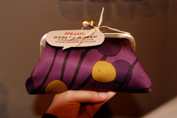 Marimekko Purple Eggplant Clutch. $37.00, via Etsy.