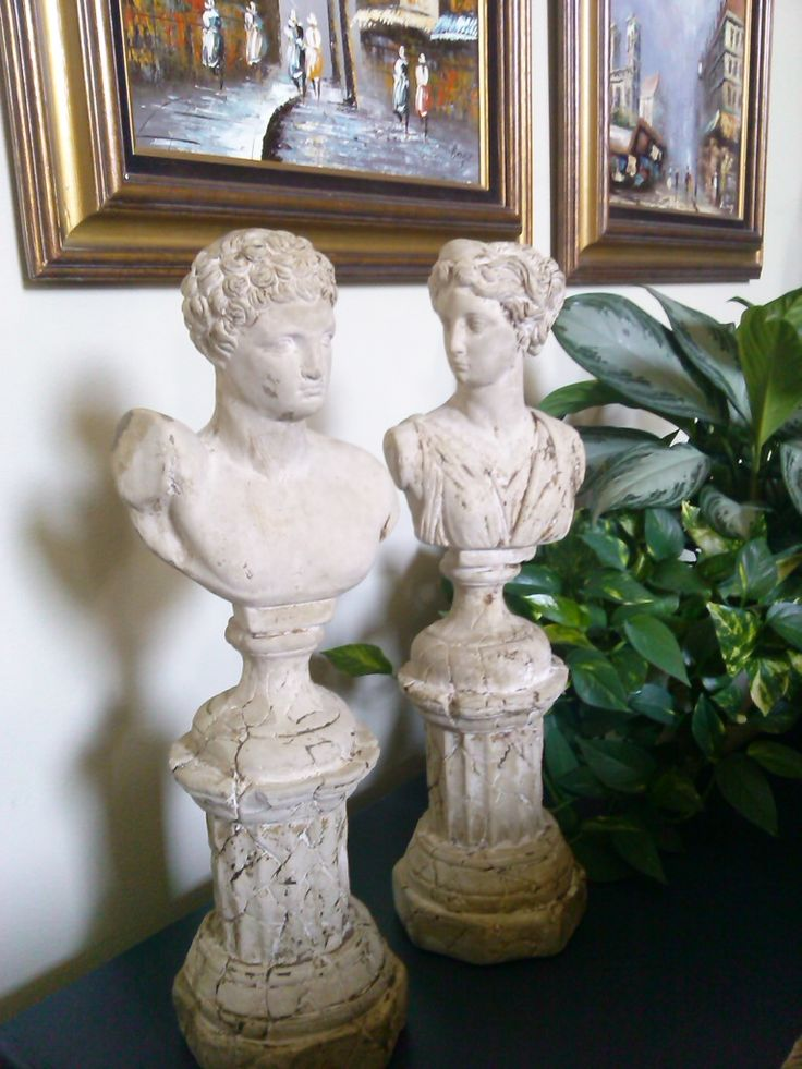 Old Statues found at a SPCA thrift store I volunteer twice a month.  Spent years looking for these.  Love them!
