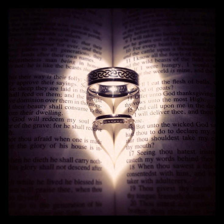 Wedding rings in bible I used a flashlight for the light so it