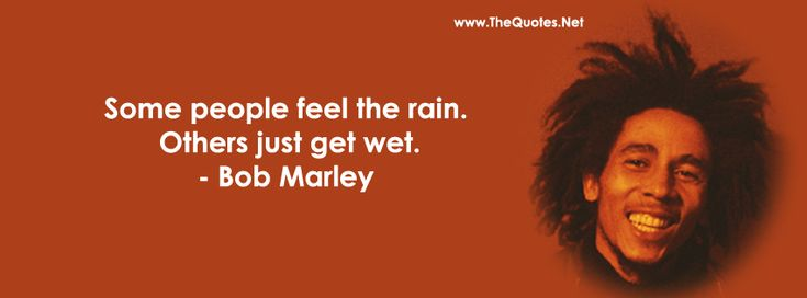 Some people feel the rain others just get wet....