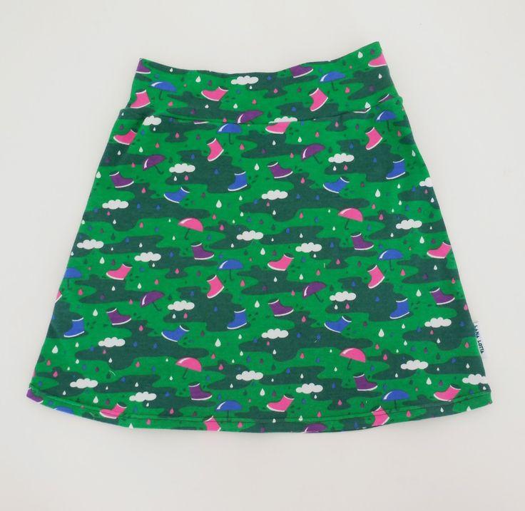Tutorial rok in tricot  met A-lijnrok patroon van 'allemaal rokjes'