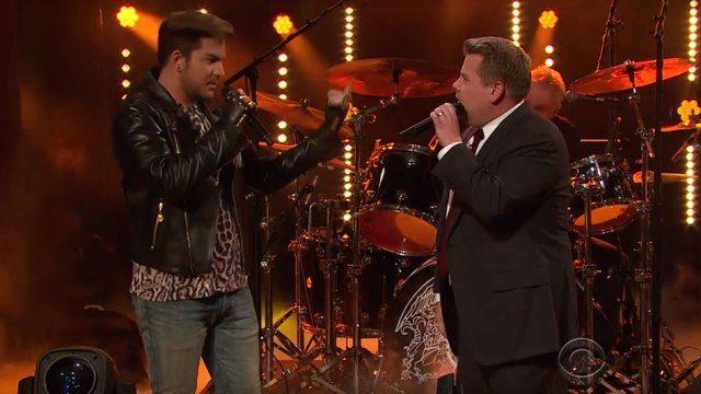 Adam Lambert Battles James Corden for Queen's Lead Singer Spot! - http://adam-lambert.org/adam-lambert-battles-james-corden-for-queens-lead-singer-spot/