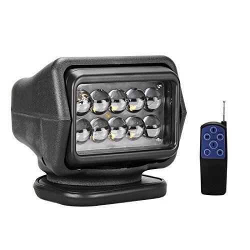 LED Lampe de Poche Rotative Télécommandée pour l'exploration 50W 12-24V 360º Cree Feu de travail éclairage d'urgence Feu de travail pour…