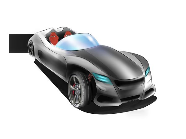 Mercedes roadster concept on Behance