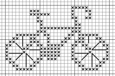 Free Sampler Patterns: bicycle