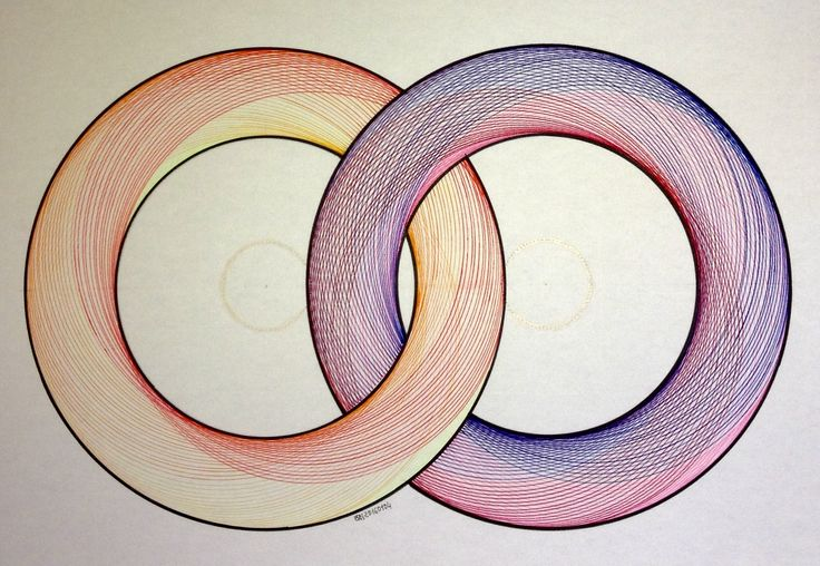 #regolo54 #geometry #symmetry #torso #handmade #disk #circle #compass #mathart #artorart #art #Escher #progression #evolution #structure #rainbow #torus
