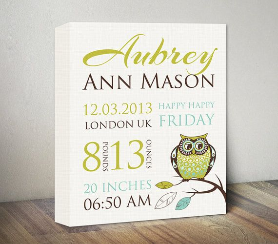 The 25 best Birth announcement canvas ideas – Birth Announcements Uk