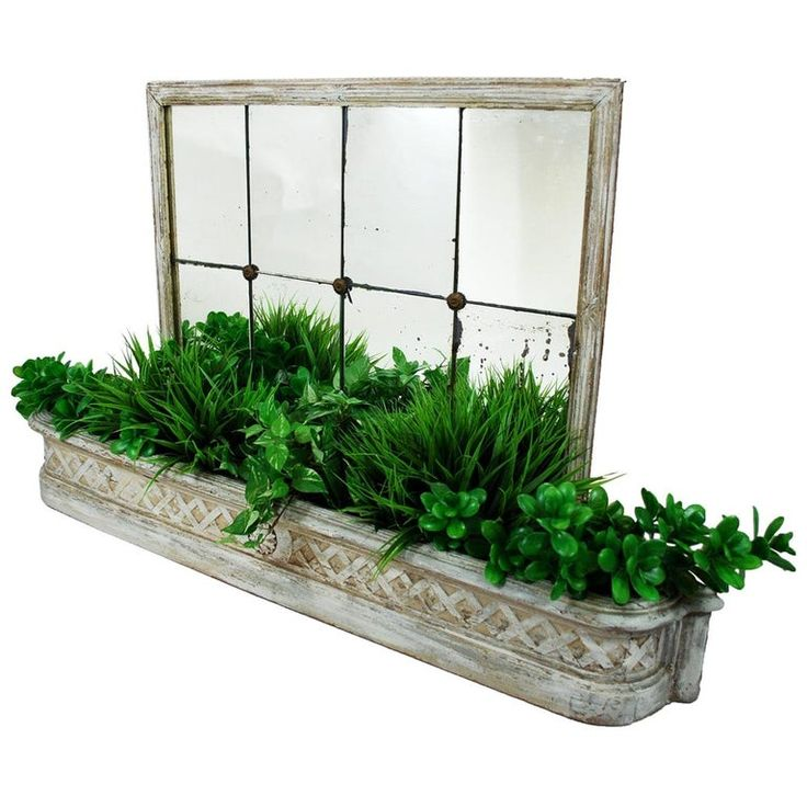 1stdibs Planter / Jardiniere – Antique Painted Mirrored Jardinière Distressed French Belle Époque Wood