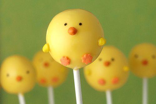 Spring Chicken cake pops