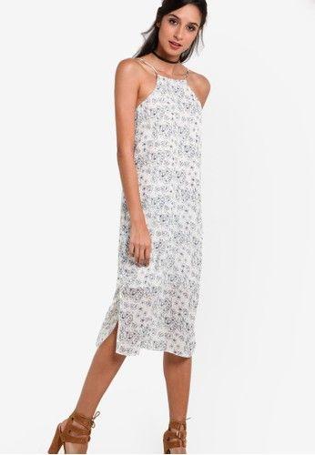 Collection Halter Cami Midi Dress from ZALORA in white_1