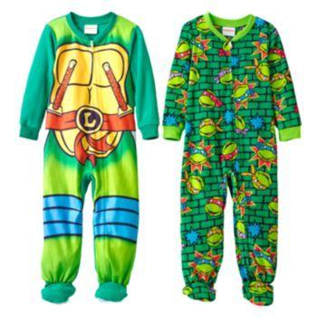 Teenage Mutant Ninja Turtles Fleece Footed Pajama Set - Toddler