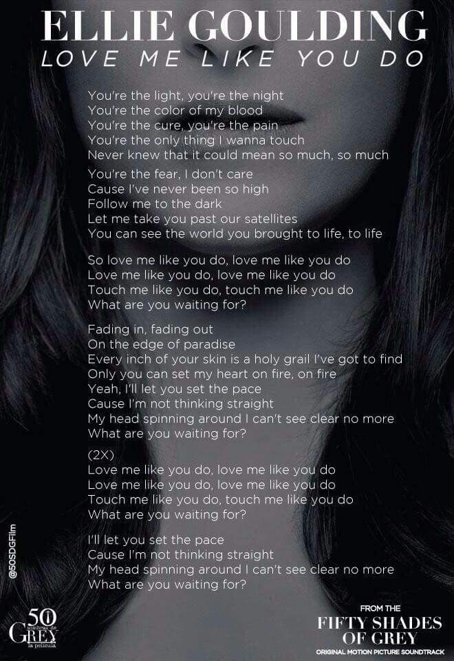 Ellie Goulding - Love me like you do lyrics