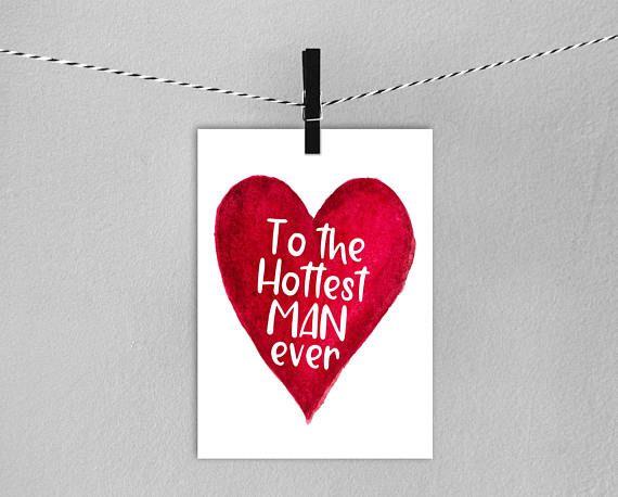 Boyfriend Card // Instant Download Printable Husband Card  //