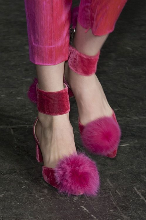 I wonder where the pink bunnies are who sacrificed their tails for these shoes?