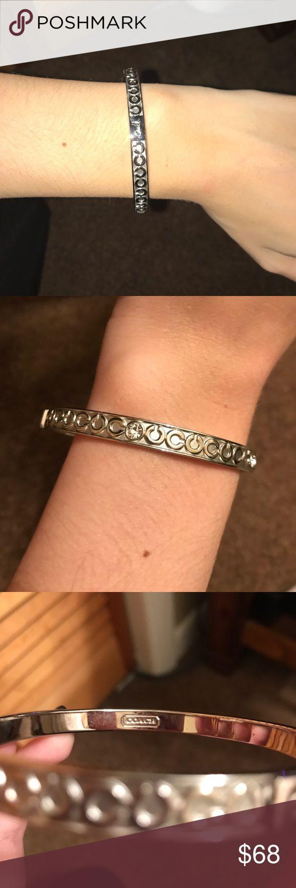 NWOT Coach Bracelet AUTHENTIC NWOT Coach Bracelet. Beautiful Silver Bracelet with Cs and 4 Rhinestones. Shop with confidence... I'm a Suggested User/ Poshmark Ambassador. Make me an offer  Coach Jewelry Bracelets