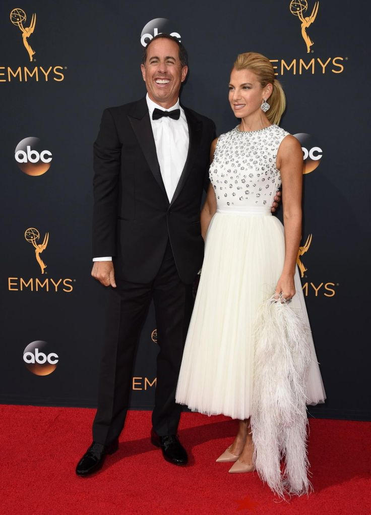 Jerry Seinfeld and his beautiful wife Jessica Seinfeld arrived at the 68th Primetime Emmy Awards on Sunday, Sept. 18, 2016.
