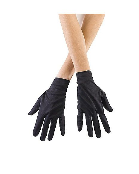 Kids Short Black Gloves - Spirithalloween.com