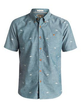 quiksilver, Men's Post Haste Short Sleeve Shirt, ENSIGN BLUE (brd0)