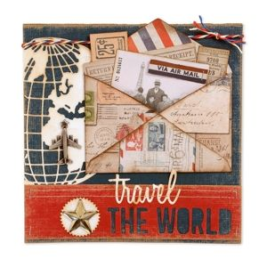 Travel the World Scrapbook Page