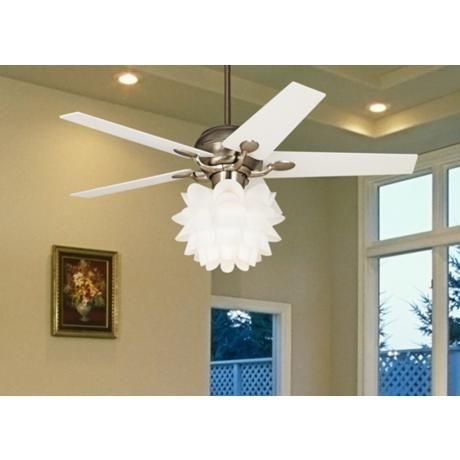 """52"""" Casa Optima™ White Flower Ceiling Fan"""