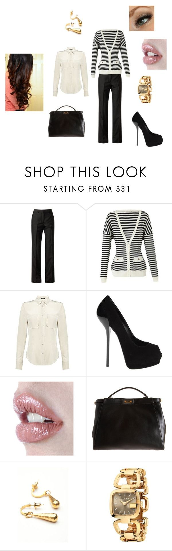 """50 Shades...Ana Steele Grey--how I see her.."" by stacy-williams-white ❤ liked on Polyvore featuring Maison Margiela, Nina Ricci, Weekend Max Mara, Giuseppe Zanotti, Ellis Faas, Fendi, Gurhan and Gucci"