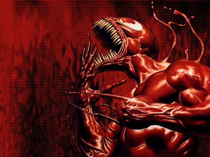 "Carnage (Cletus Kasady alias 999th) (Human/Mutate) (Brooklyn, New York, U.S.A.) Mass murderer, criminal, prisoner/patient at Ravencroft Institute (a facility for the super-human criminally insane; former Serial killer, vigilante. Superhuman strength, speed, stamina, agility, reflexes, durability. Regenerative healing factor. Wall crawling, webbing. Camouflage capabilities. Constituent-matter generation. Constituent- matter manipulation. Immunity to Spider-Man's Spider-Sense. 6' 9"" tall."