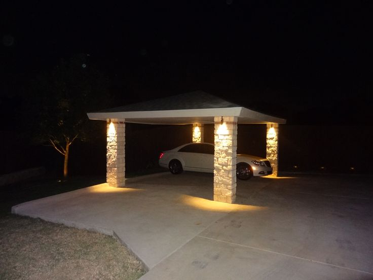 Carport Led Lighting Arriving Home At Night One Of Nite