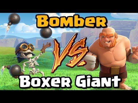 Bomber VS Boxer Giant  Clash of Clans Battle  New CoC Upda