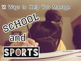 Managing school and sports. Organization tips for school- this will be a good guide to have around for my students. Middle school is the first time in their lives that they have to balance these things more independently.