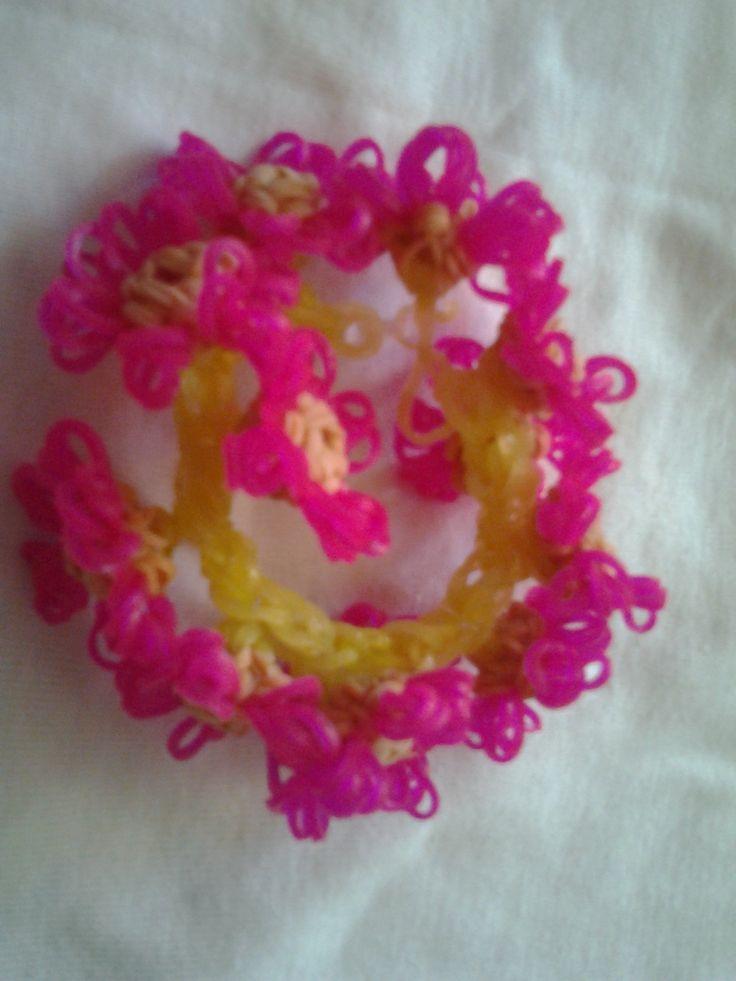 loom flowers bracelet