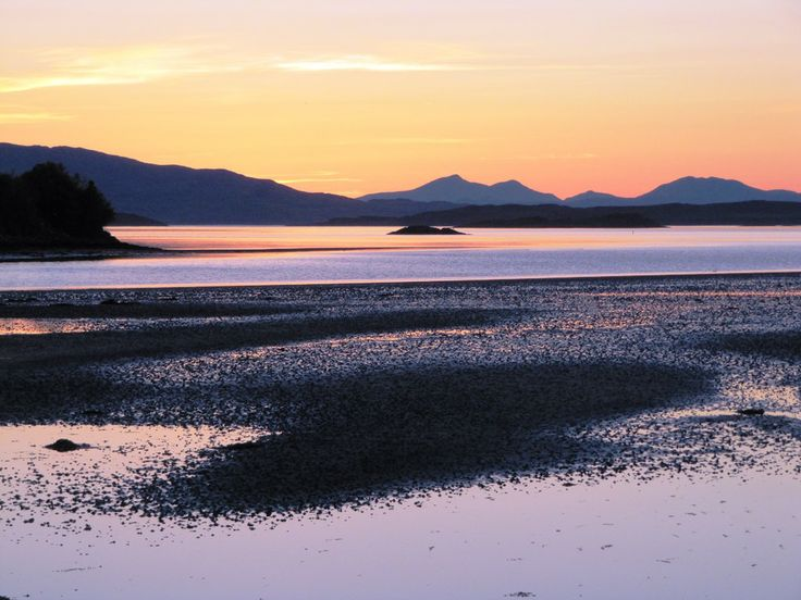Crinan Harbour with spectacular sunset views over the Isle of Jura, Argyll, West Scotland. www.argyllselfcateringholidays.co.uk